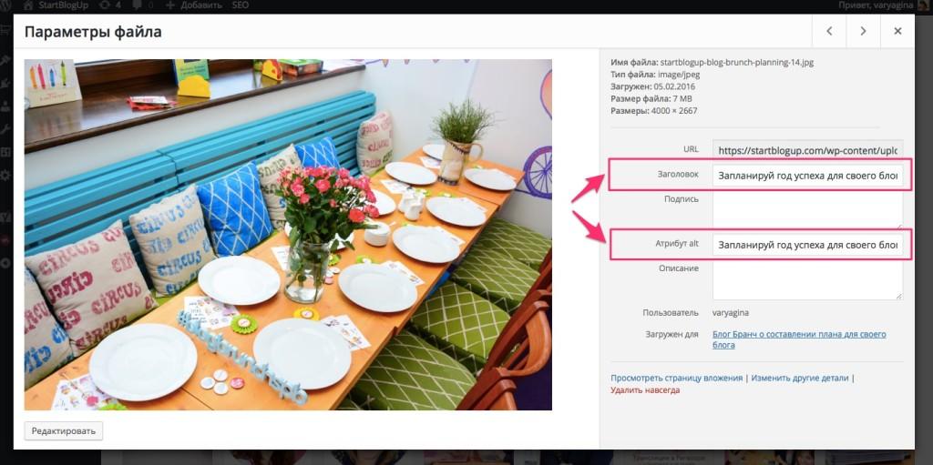 Как правильно называть картинки на вашем сайте в вордпресс | StartBlogUp.com